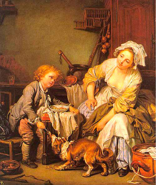 Helnwein Child: Jean Baptiste Greuze, Spoiled Child