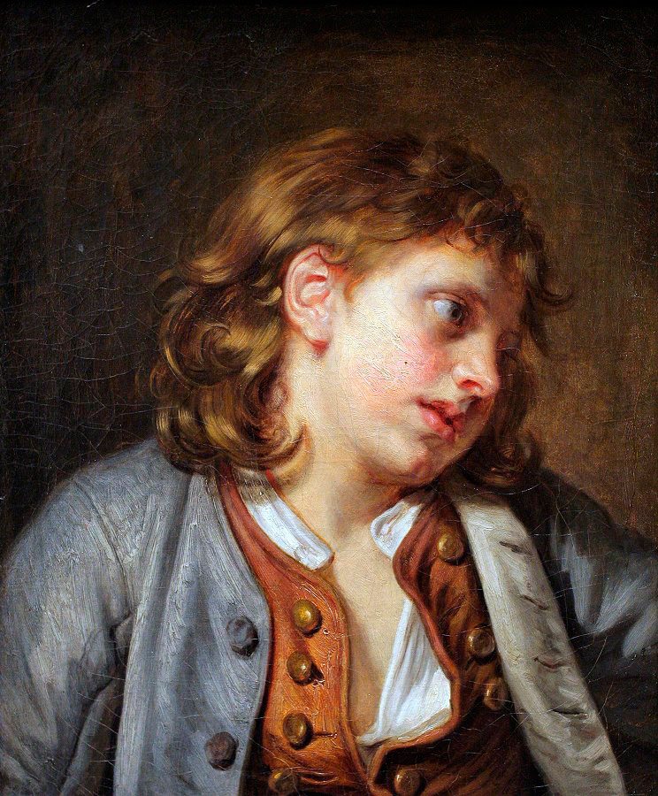 Helnwein Child: Jean Baptiste Greuze,Young Peasant Boy, ca.1763, oil on canvas, 18 7/8 x 15 3/8 inches