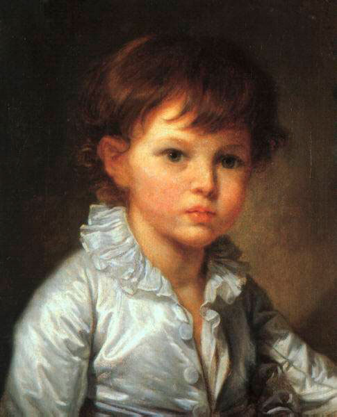 Helnwein Child: Jean Baptiste Greuze, Portrait of Count Stroganov as a Child, 1778, Oil on canvas, The Hermitage, St. Petersburg